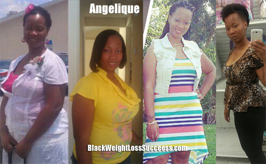 Angelique lost 50 pounds | Black Weight Loss Success