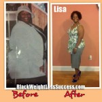 Lisa lost 119 pounds