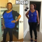 Megan lost weight in a workplace weight loss contest