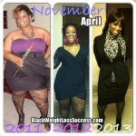 April lost 102 pounds