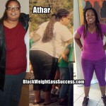 Athar lost 150 pounds
