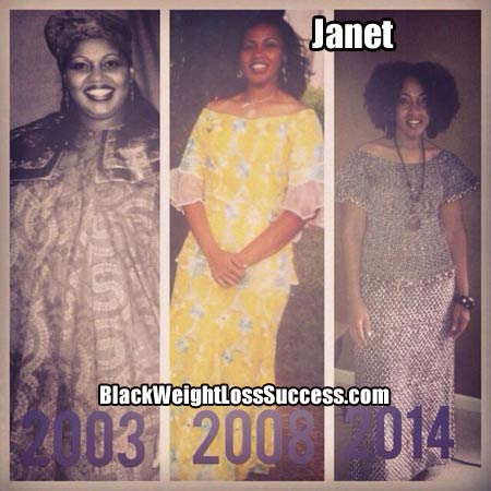Janet before and after