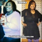 Taneeka lost 90 pounds