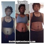Tequilla lost 75 pounds