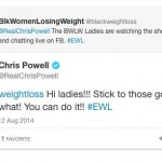 Shout out from Chris Powell and a Follow from Jillian Michaels