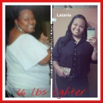 Latania lost 66 pounds