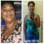 Andrea lost 85 pounds