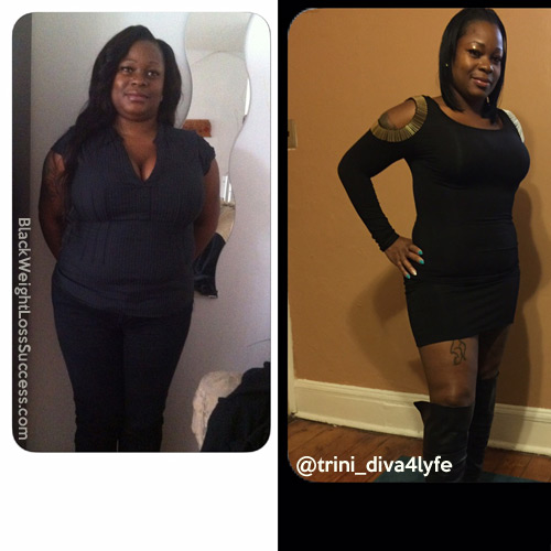 Akina lost 50 pounds | Black Weight Loss Success