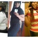 Wannie lost 76 pounds