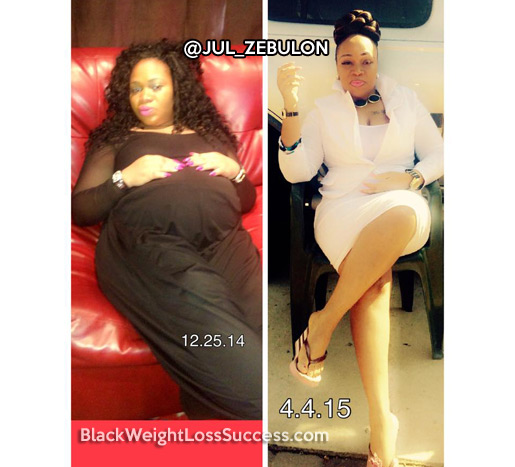 Jul lost 47 pounds | Black Weight Loss Success