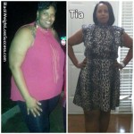 Tia lost 86 pounds