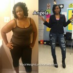 Angela lost over 120 pounds
