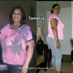 Tamekia lost over 100 pounds