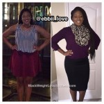 Eboni lost 26 pounds