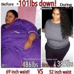 Jessica lost 101 pounds