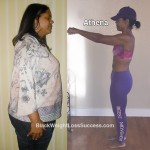 Athena lost 125 pounds