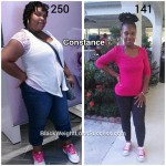 Constance lost 109 pounds with surgery