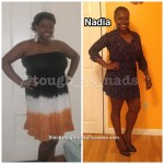 Nadia lost 73 pounds