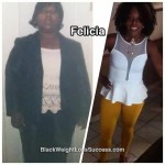 Felicia lost 90 pounds