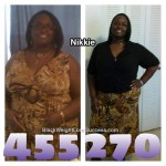Nikki lost 185 pounds