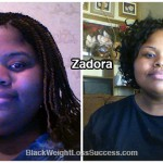 Zadora lost 100 pounds