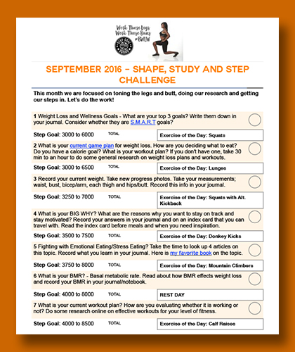 September Shape Study And Step Challenge Black Weight
