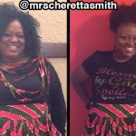 Cheretta lost 45 pounds