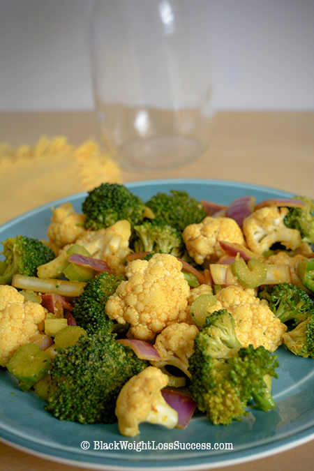 crunchy curried vegetables