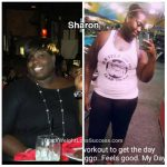 Sharon lost 135 pounds