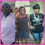Crystal lost 50 pounds