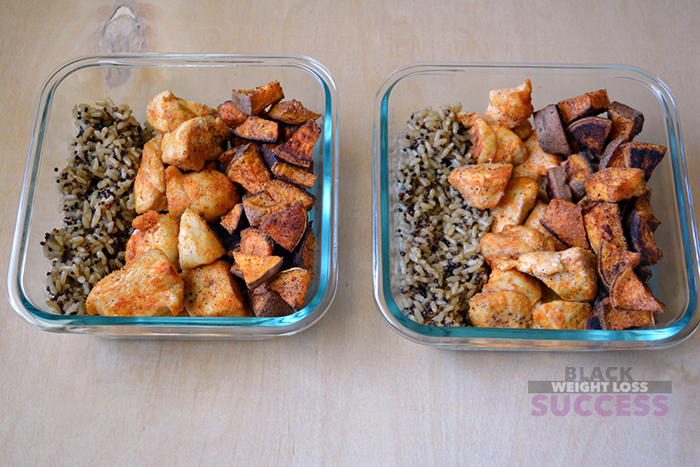 simple chicken sweet potato meal prep