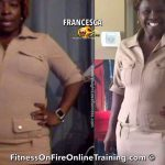 Francesca lost 7 pounds and 2 dress sizes
